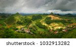 dramatic beautiful rural... | Shutterstock . vector #1032913282