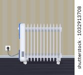 oil radiator in room with... | Shutterstock .eps vector #1032913708