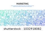 marketing design concept....   Shutterstock .eps vector #1032918082