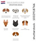dogs by country of origin.... | Shutterstock .eps vector #1032918766