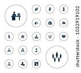editable vector employee icons  ... | Shutterstock .eps vector #1032919102