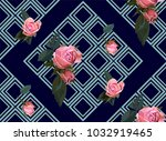 floral seamless background... | Shutterstock .eps vector #1032919465
