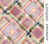 seamless pattern tartan design. ... | Shutterstock . vector #1032923275