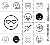 feeling icons. set of 13... | Shutterstock .eps vector #1032925672