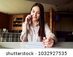 business women are working on a ... | Shutterstock . vector #1032927535