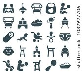 toddler icons. set of 25... | Shutterstock .eps vector #1032927706