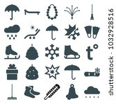 season icons. set of 25... | Shutterstock .eps vector #1032928516