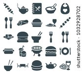 lunch icons. set of 25 editable ... | Shutterstock .eps vector #1032928702