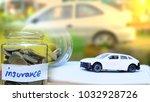 car loan and insurance saving... | Shutterstock . vector #1032928726