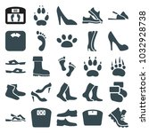 foot icons. set of 25 editable... | Shutterstock .eps vector #1032928738