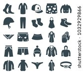 wear icons. set of 25 editable... | Shutterstock .eps vector #1032929866