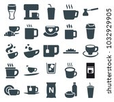 coffee icons. set of 25... | Shutterstock .eps vector #1032929905