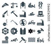 industry icons. set of 25... | Shutterstock .eps vector #1032929992