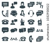 talk icons. set of 25 editable... | Shutterstock .eps vector #1032930022