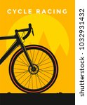 cycle racing sport poster... | Shutterstock .eps vector #1032931432