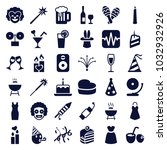 party icons. set of 36 editable ... | Shutterstock .eps vector #1032932926