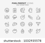 thin line icons set of... | Shutterstock .eps vector #1032935578