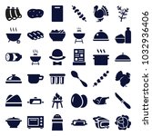 cooking icons. set of 36... | Shutterstock .eps vector #1032936406