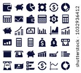 economy icons. set of 36... | Shutterstock .eps vector #1032936412