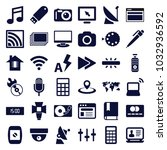 digital icons. set of 36... | Shutterstock .eps vector #1032936592