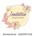 vector hand drawn romantic...   Shutterstock .eps vector #1032937126