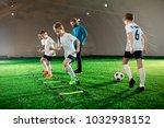 youthful kids in uniform...   Shutterstock . vector #1032938152