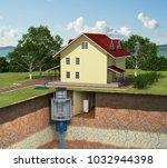 3d illustration of a cottage....   Shutterstock . vector #1032944398