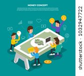 flat design concept brainstorm... | Shutterstock .eps vector #1032947722