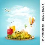 unusual 3d illustration of a... | Shutterstock . vector #1032950215