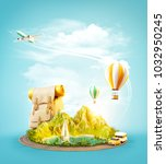 unusual 3d illustration of a... | Shutterstock . vector #1032950245