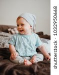 cute little happy laughing baby ... | Shutterstock . vector #1032950668
