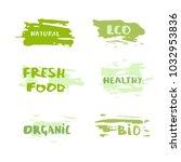 set of handwritten organic... | Shutterstock .eps vector #1032953836