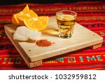 mezcal mexican drink with... | Shutterstock . vector #1032959812