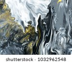 black and white with gold... | Shutterstock . vector #1032962548