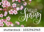blossom tree and spring... | Shutterstock .eps vector #1032962965