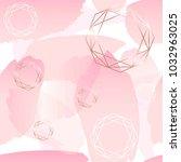brush strokes of rose pastel... | Shutterstock .eps vector #1032963025