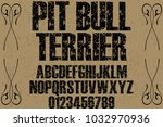 font alphabet typeface...   Shutterstock .eps vector #1032970936
