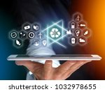 view of a technology ecologic... | Shutterstock . vector #1032978655