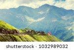 wonderful beautiful view on... | Shutterstock . vector #1032989032