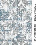 vector damask grunge  pattern... | Shutterstock .eps vector #1032996022