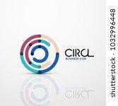 abstract swirl lines symbol ... | Shutterstock .eps vector #1032996448