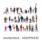 fathers day set  group of... | Shutterstock .eps vector #1032996532