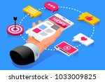internet publication webpage of ... | Shutterstock .eps vector #1033009825