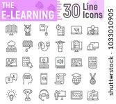e learning line icon set ... | Shutterstock .eps vector #1033010905