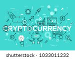 cryptocurrency word surrounded...   Shutterstock .eps vector #1033011232