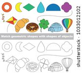 geometric shapes set to find... | Shutterstock .eps vector #1033012102