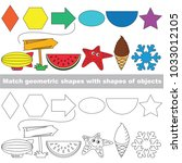 geometric shapes set to find... | Shutterstock .eps vector #1033012105