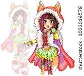 Cute Fashion Foxy Girl With Fox ...