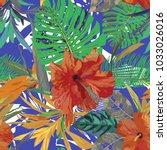 floral seamless pattern.... | Shutterstock .eps vector #1033026016
