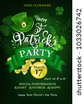 happy saint patrick's day... | Shutterstock .eps vector #1033026742